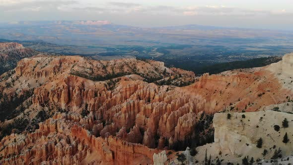 Panorama of Summer Landscape in Bryce Canyon, Utah, USA.