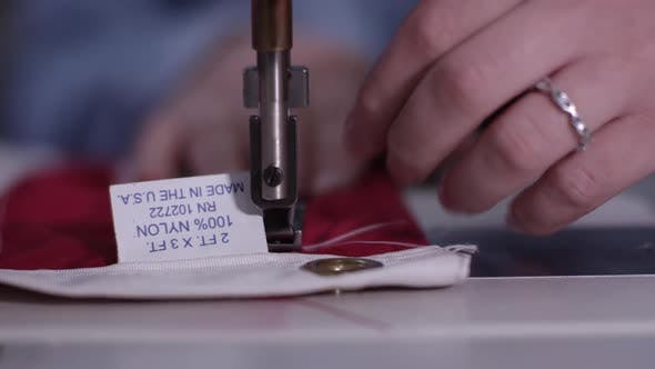 Made in the U.S.A. flag being created