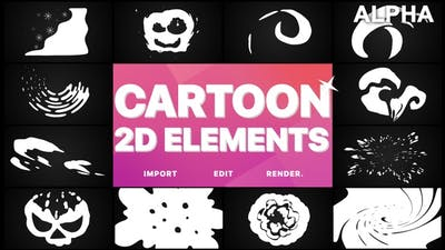 2D Cartoon Elements | Motion Graphics Pack