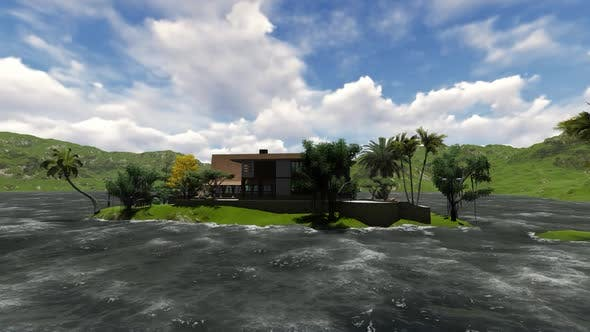 Thumbnail for Panoramic view of the Villa in the morning