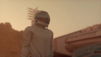 Astronaut on the Surface of Mars