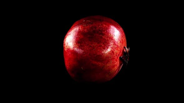 Thumbnail for Pomegranate on a Black Background 3