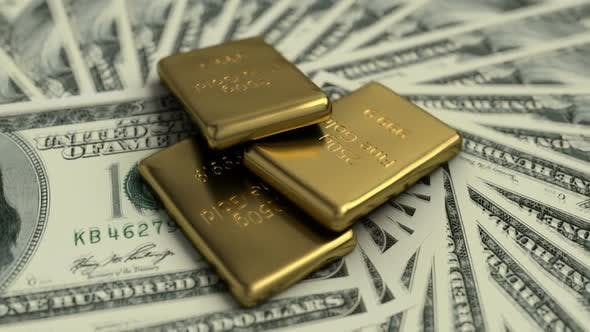 Thumbnail for Fine Gold Bars and 100 USD Banknotes