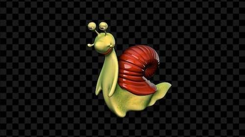 3D Snail - Cartoon Dance
