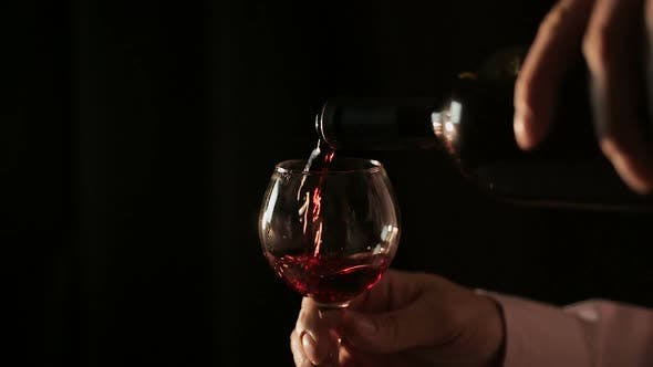 Thumbnail for Professional Winemaker Pouring Red Wine Into Glass and Tasting, Close-Up