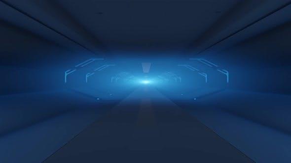 Thumbnail for Blue Corridor VJ Looped