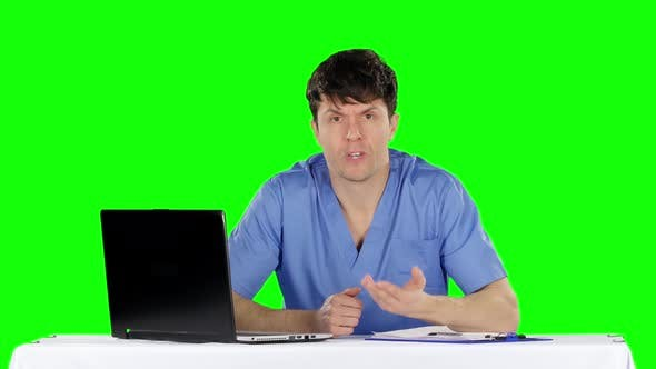 Thumbnail for Reception at the Doctor. Green Screen
