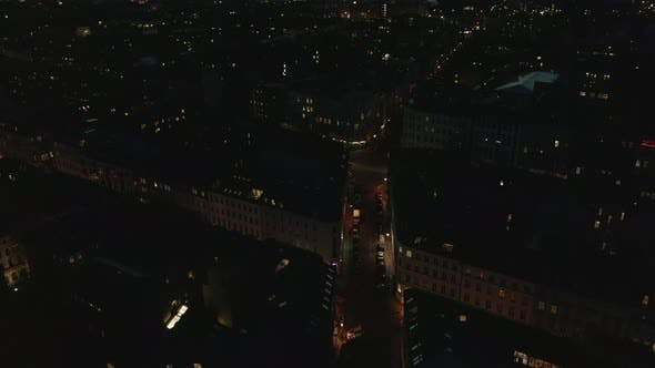 Thumbnail for AERIAL: View of Empty Berlin, Germany Neighbourhood with City Light During COVID 19 Coronavirus