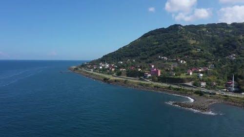 Trabzon Coast And Sea Aerial View