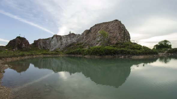 Timelapse reflection of abandoned quarry at Frog Hill