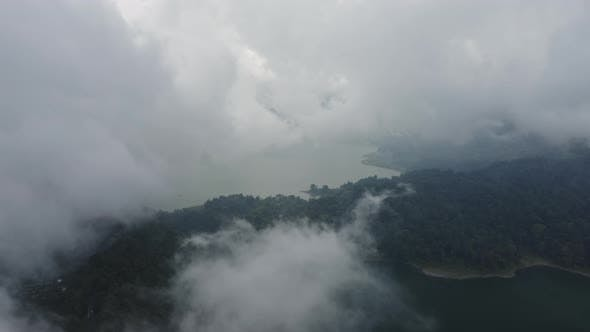 Thumbnail for Drone Flight Through White Cloudy Sky