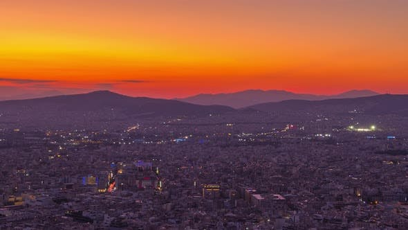 Thumbnail for Sunset over Athens