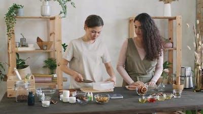 Two Women Making DIY Soap