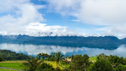 Thumbnail for Maninjau Lake and Clouds Time Lapse 1 - 3K Res