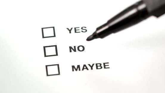 Thumbnail for Check box of yes no maybe