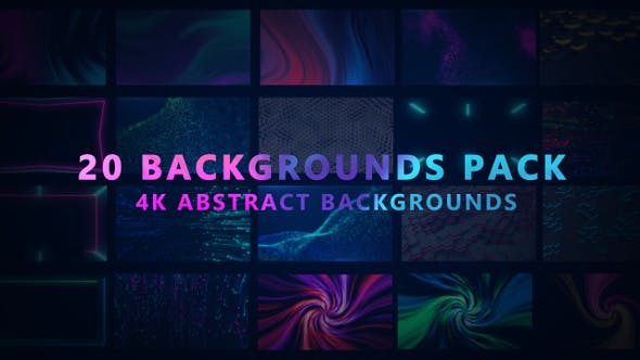 20 Abstract Background Pack