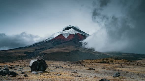 Thumbnail for Cotopaxi National Park, Ecuador, Timelapse  - The Cotopaxi volcano during the day