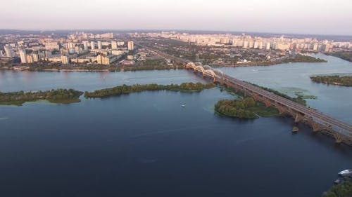Bridge On River Sunset