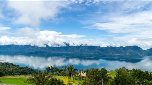 Thumbnail for Maninjau Lake and Clouds Time Lapse 1 - 4K