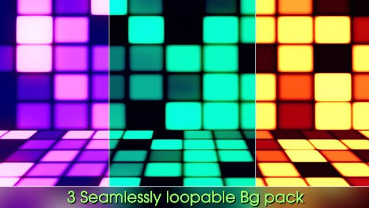 Thumbnail for Dance Party - 3 Backgrounds Pack