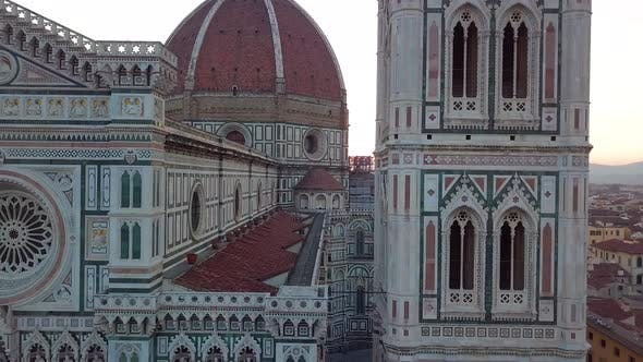 Thumbnail for Aerial View on the City and Cathedral of Santa Maria Del Fiore
