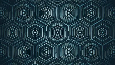 Dark Blue Hexagons