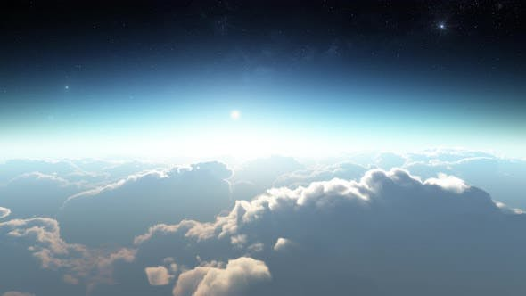 Thumbnail for Earth View Above The Cloud 08 4K