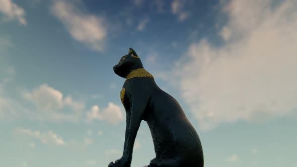 Ancient Egypt Cat Statue
