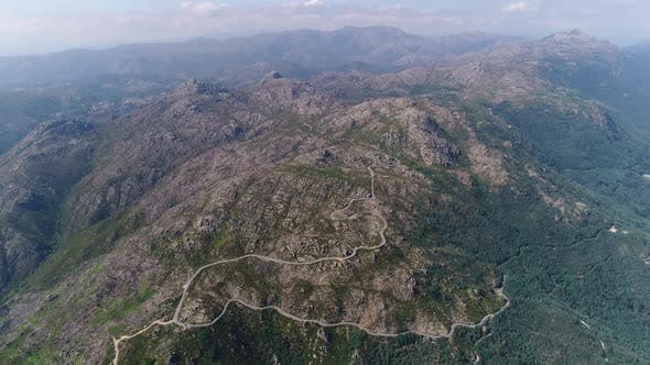 Thumbnail for Aerial View of Serpentine Road on Top of Big Mountain