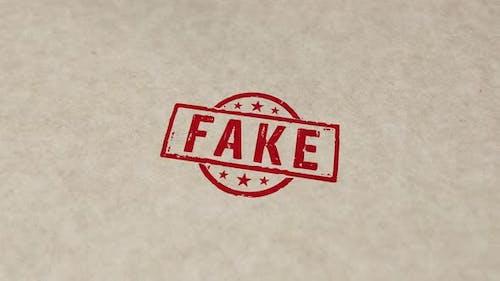 Fake stamp and stamping