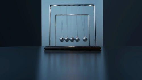 Pendulum Balls Swinging Newtons Cradle Moment Time Passing Success Business