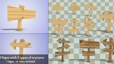 3D Wood Signs