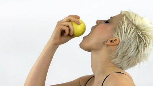 Thumbnail for Woman Eating Apple