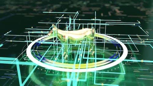 3D concept of a futuristic agriculture concept