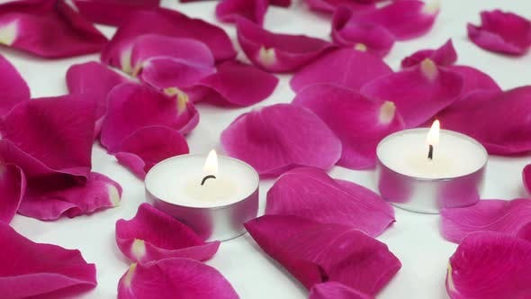 Thumbnail for Romantic Rose Petals And Candles