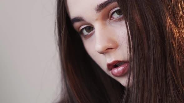 Beautiful Woman Sensual Grace Perfect Skincare