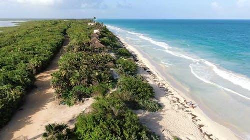 Tulum Beach Rivera Maya Aerial