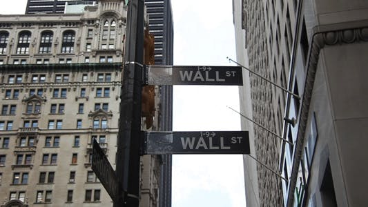 Wall Street and Broadway New York City Full HD