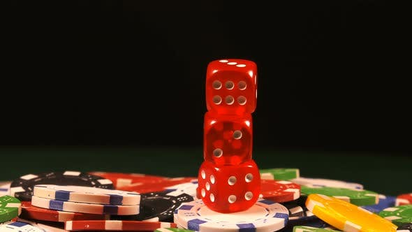 Thumbnail for Gambling Money Chips And Red Dices 3