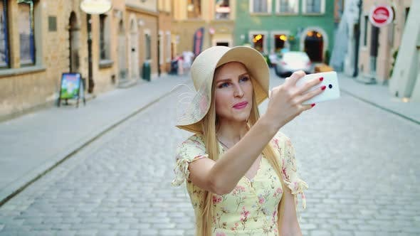Thumbnail for Young Lady Sightseeing and Taking Shots