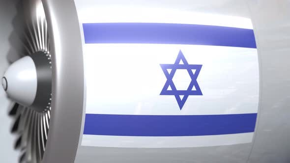 Thumbnail for Turbine with Flag of Israel