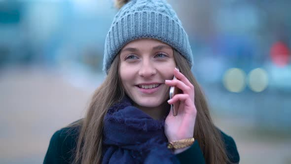 Thumbnail for Girl Smiling With Phone