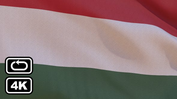 Thumbnail for Hungary Flag 4K Seamless Loop