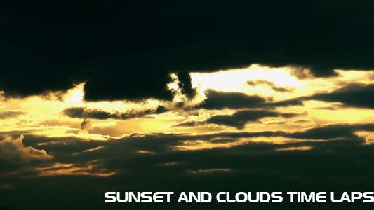 Thumbnail for Sunset And Clouds Time Lapse