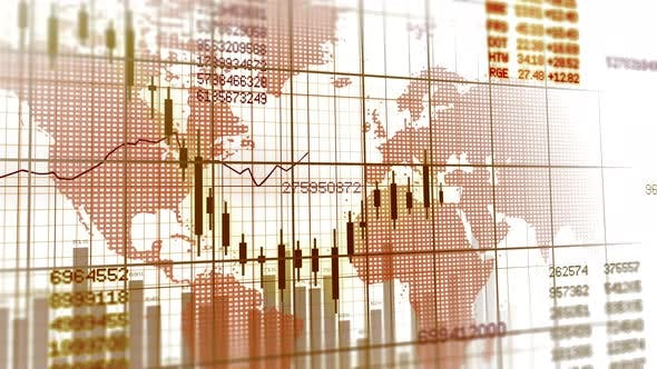 Thumbnail for Stocks Exchange Rate Trading Market Data Infographic Background