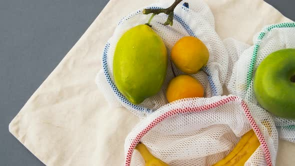Thumbnail for Reusable Shopping Bags for Food with Fruits 21