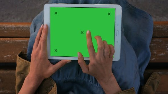 Thumbnail for Woman's Hands Working on A Tablet PC