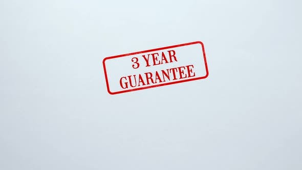 Thumbnail for 3 Year Guarantee Seal Stamped on Blank Paper Background, Product Quality