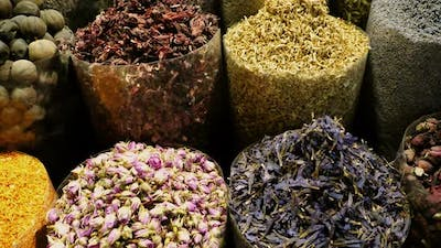 Eastern Market with spices in UAE