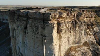 Tilting Shot Of White Cliff